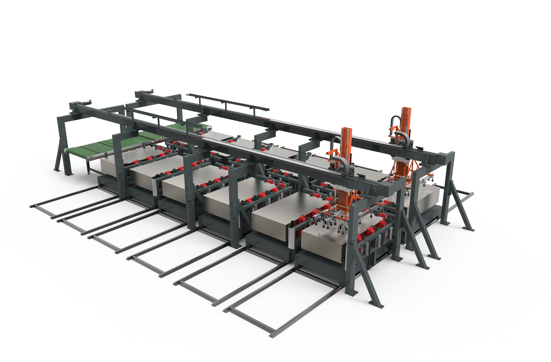 WEMO, stansen, buigen en lassenProductielijn voor het produceren van Lockers en Kasten