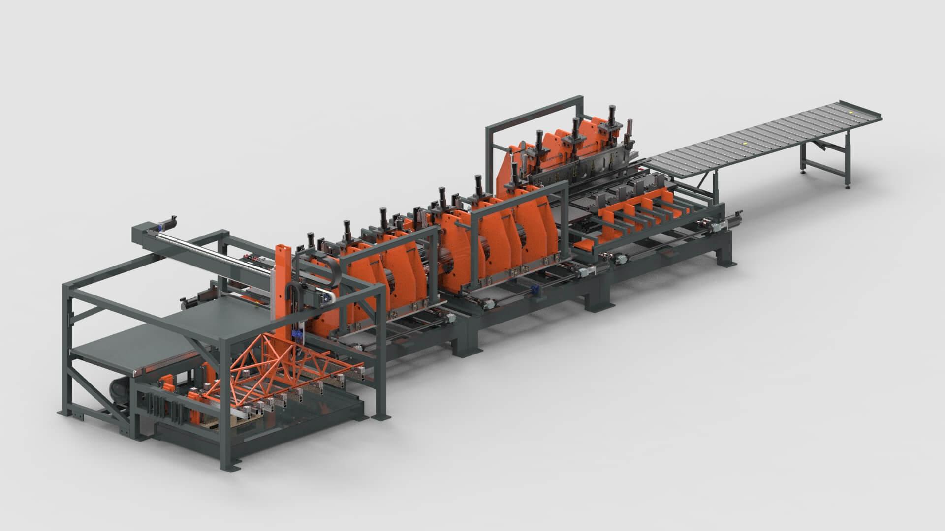 Blechbearbeitung Produktionslinie für Stahlzargen