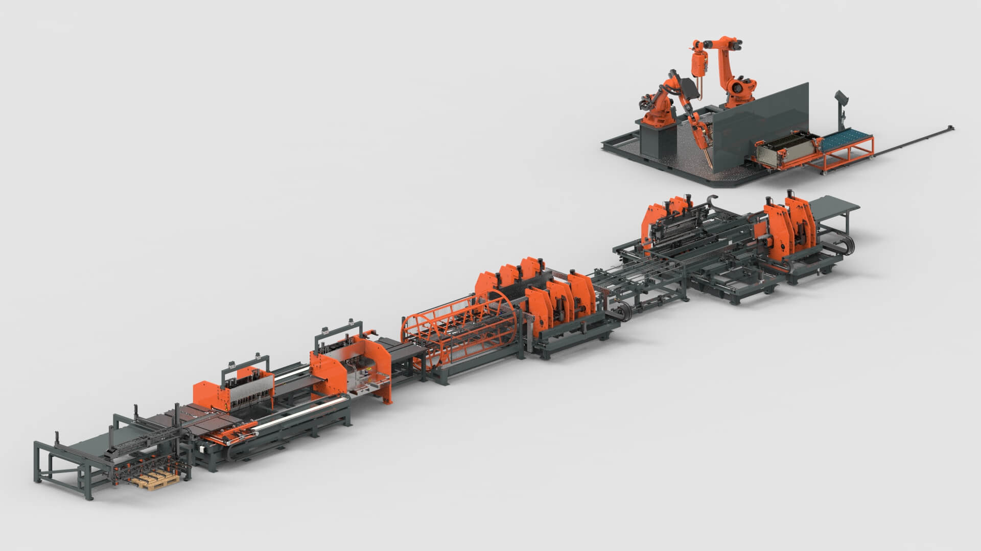 Sheet Metal Sheet Punching bending Production Line for Steel Cabinets