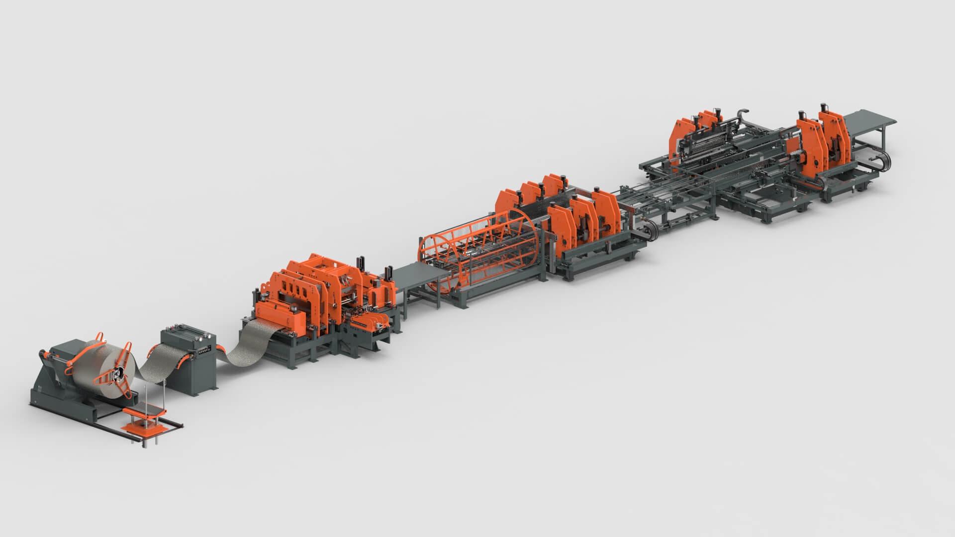 Blechbearbeitung Coil Stanzen Biegen Produktionslinie für Stahlschränke