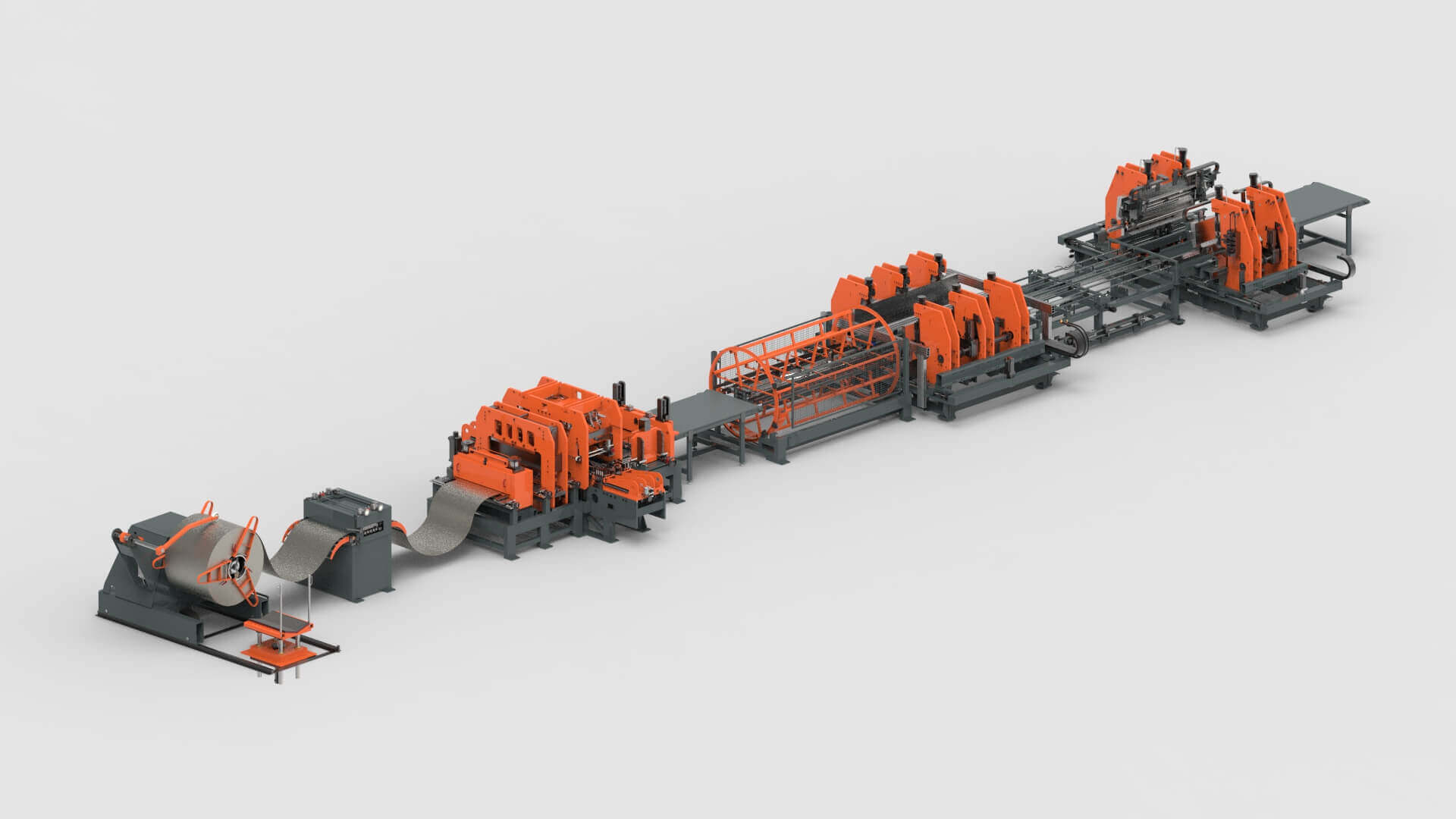 Sheet Metal Coil Punching Bending Production Line for Wall Systems