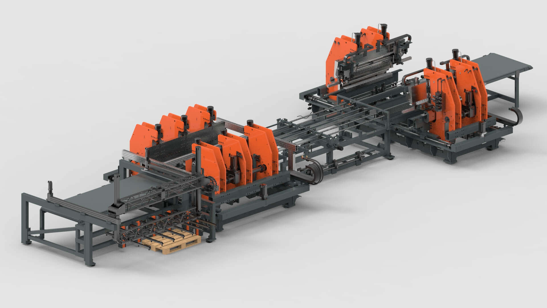 Sheet Metal Bending Production Line for Wall Systems