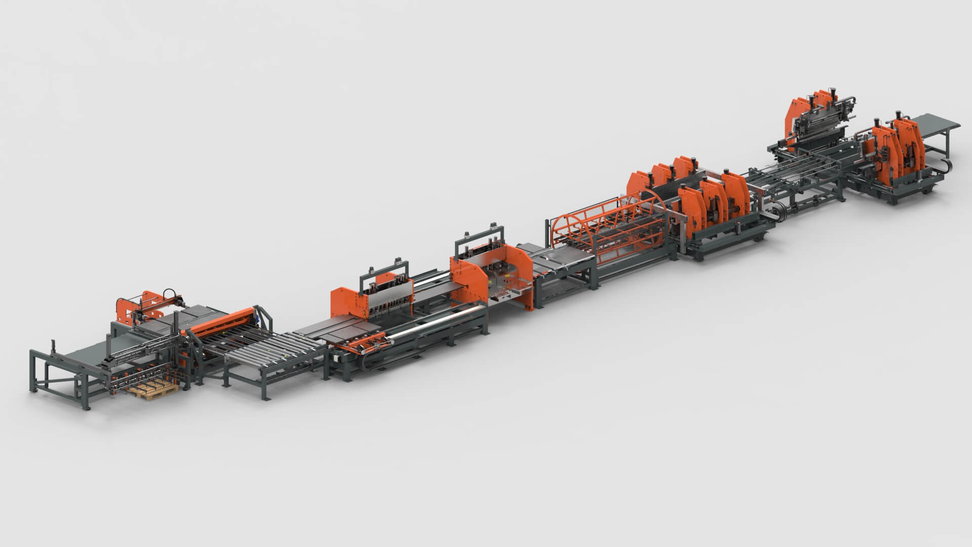 Sheet Metal Cutting Punching Bending Production Line for Wall Systems