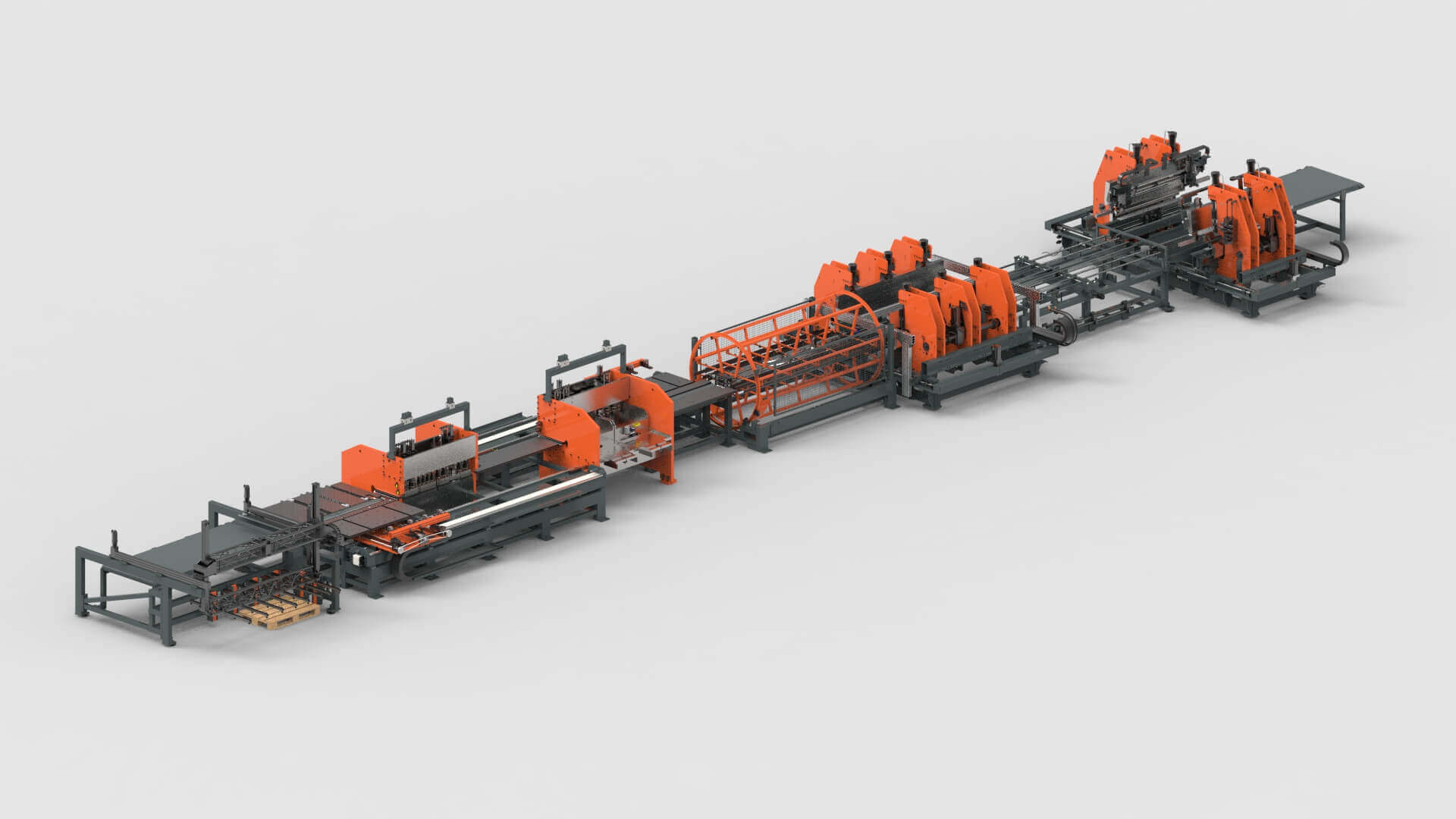 Sheet Metal Punching Bending Production Line for Wall Systems