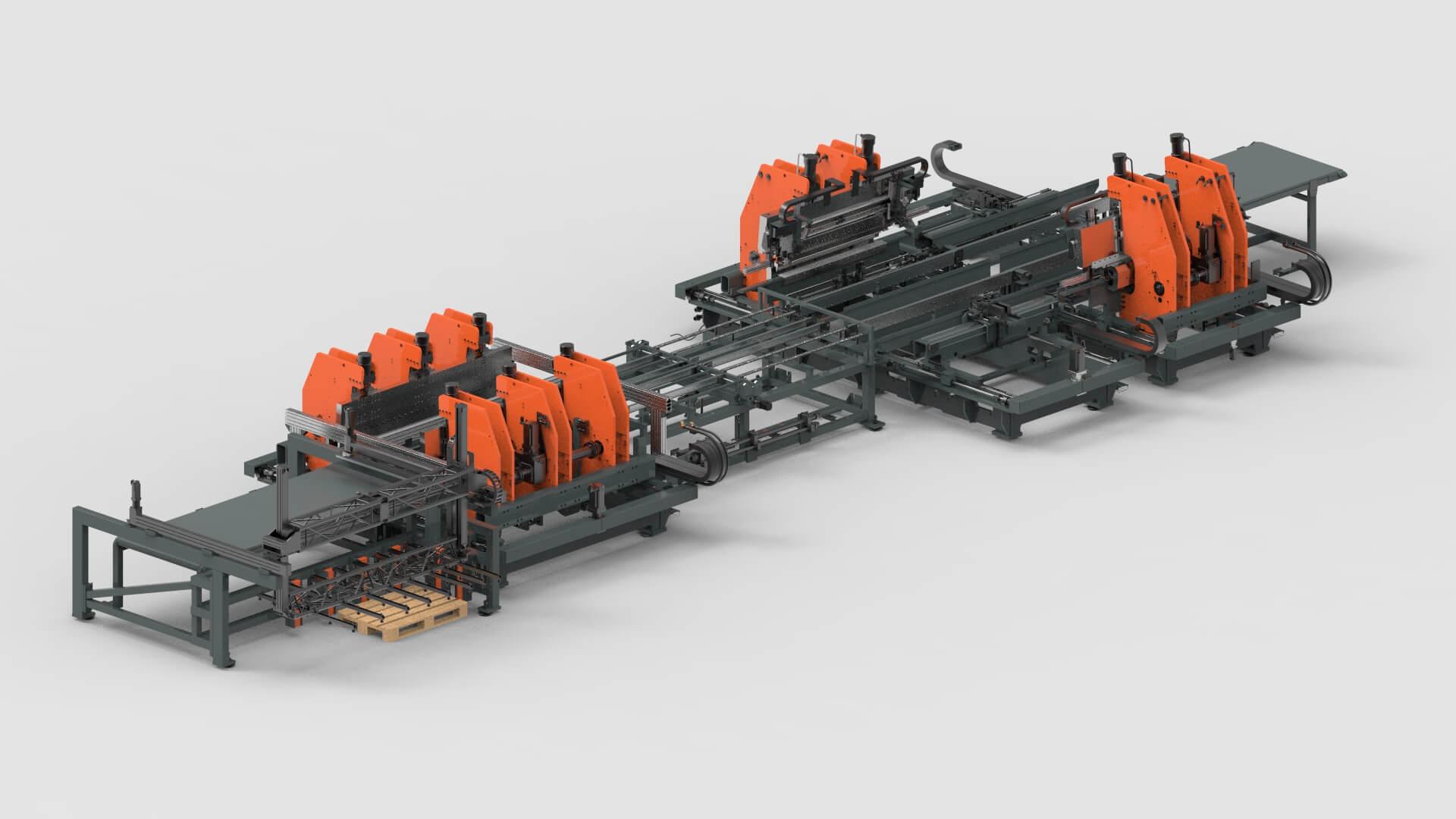 Sheet Metal Bending Production Line for Shelving