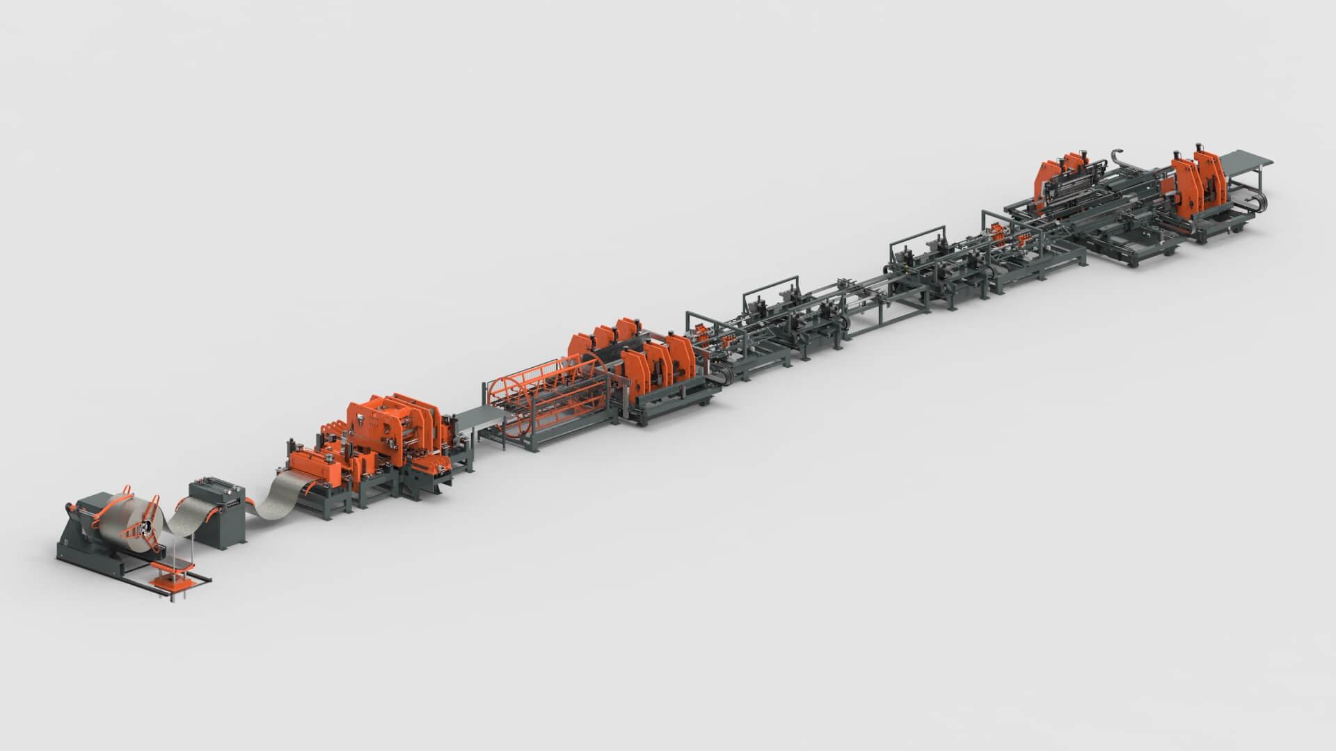 Blechbearbeitung Coil Stanzen Clinchen Biegen Produktionslinie für Fachbodenregale