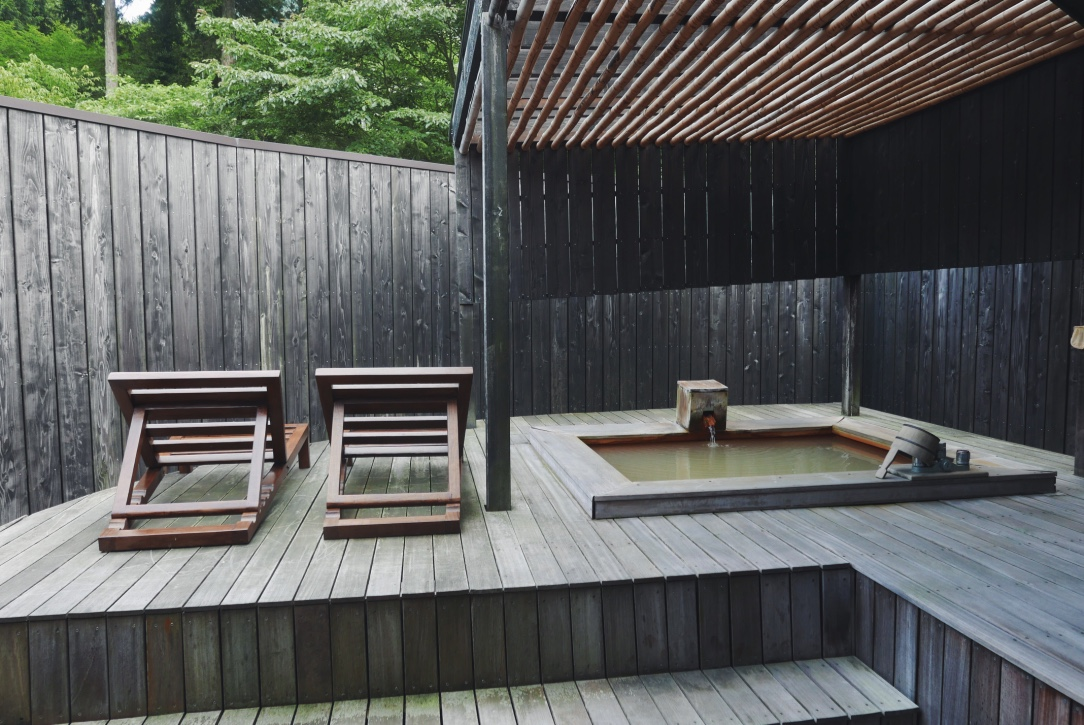 Our private terrace and onsen.