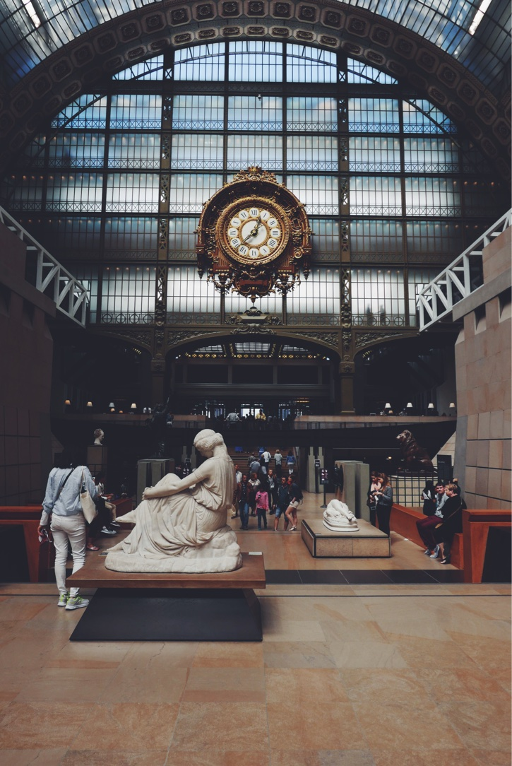 Inside the Musee d'Orsay.
