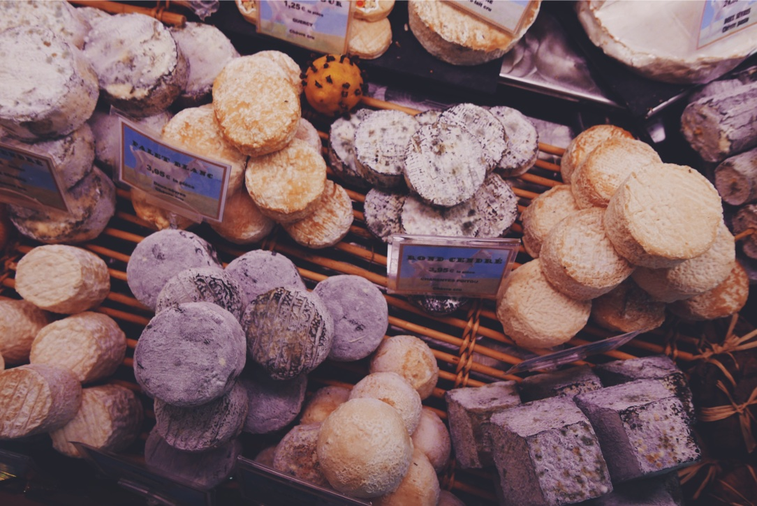 Tasting all the cheeses on our walking food tour!