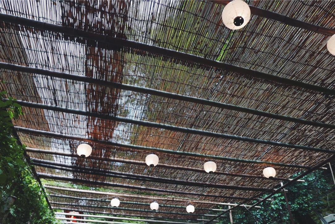 Dreamy lantern-lit ceilings.