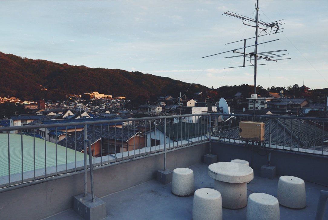 The rooftop of our Airbnb rental.