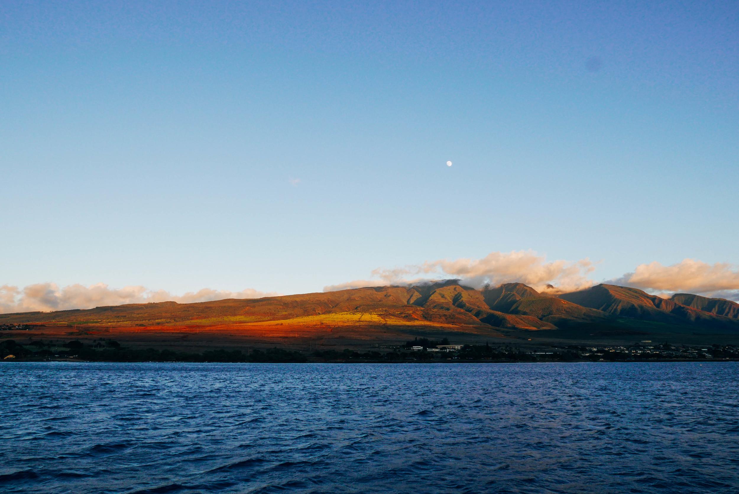 The west Maui mountains.