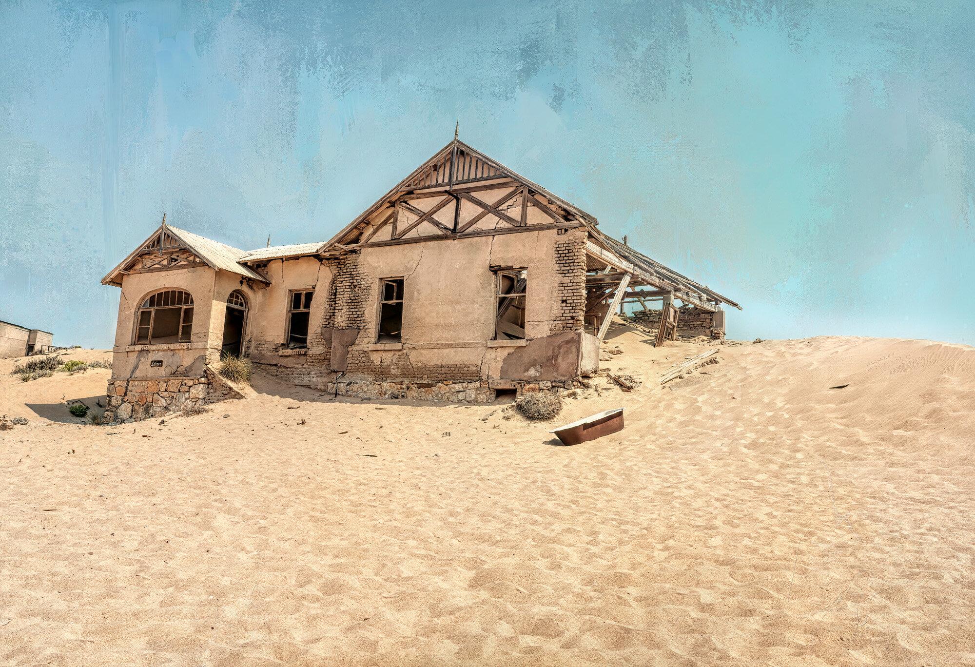 Welcome to Kolmanskop, Namibia.