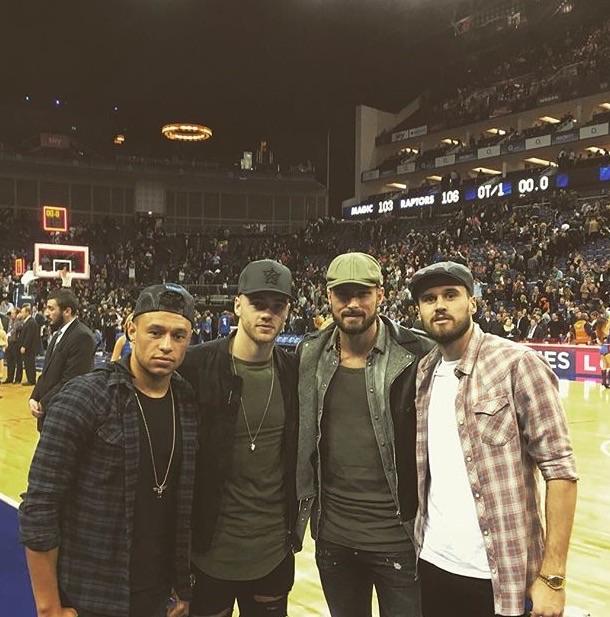 Premier League stars left to right: Arsenal FCs Alex Oxlaide Chamberlain, Calum Chambers, Olivier Giroud and West Ham Uniteds Carl Jenkinson