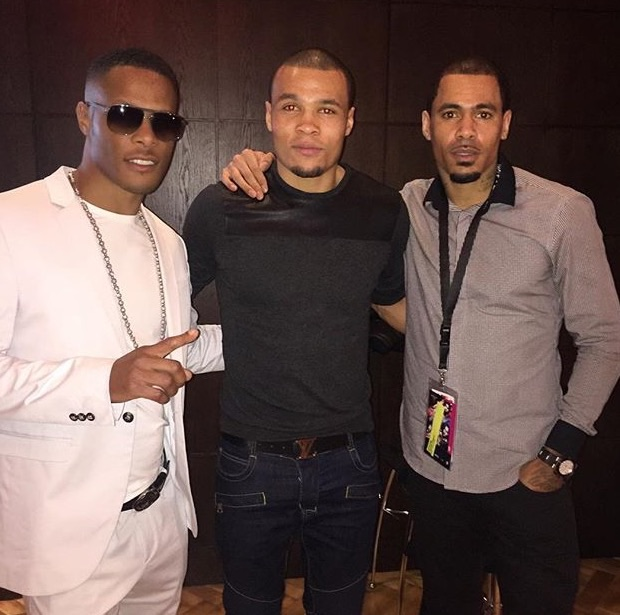 Romeo, So Solid Crew, Chris Eubank Jr and Harvey, So Solid Crew turned out to support David Haye