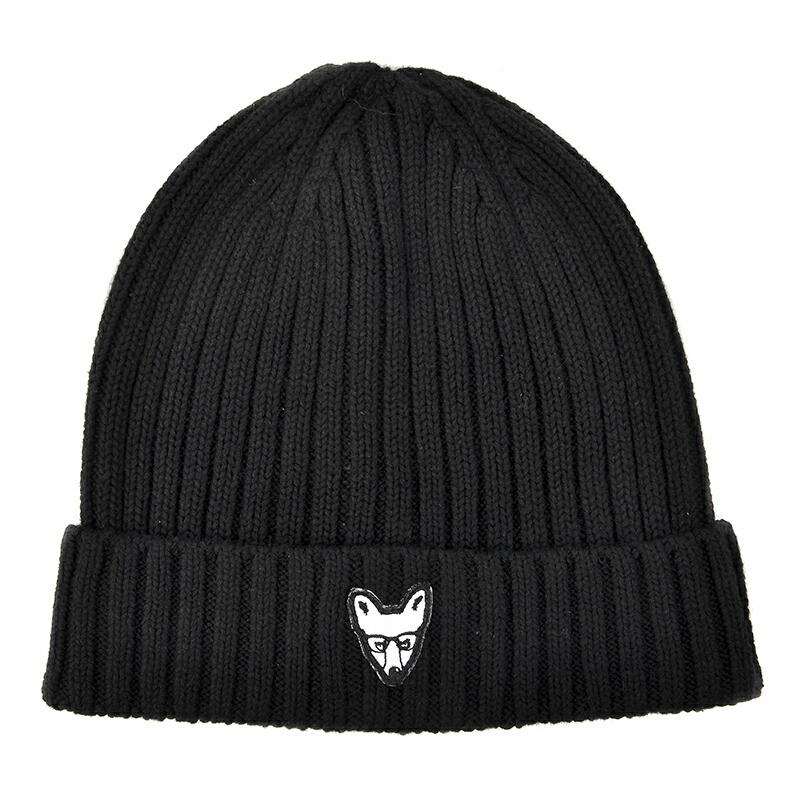 Foxberry Boys Black Rib-Knit Wool Hat retailing online at www.foxberryboys.co.uk for £24.99