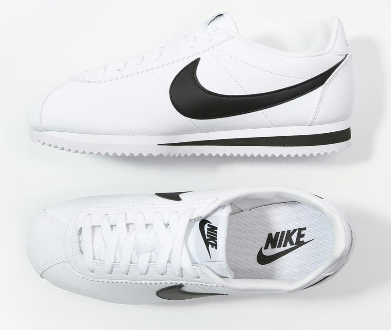 Mens Nike White and Black Classic Cortez worn by Bruno Mars and The Hooligans