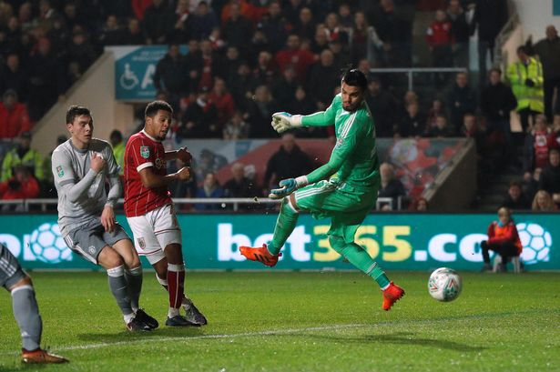 Centre: Korey Smith sends Bristol City into a dream land semi final tie with Manchester City with a 93rd minute winner at Ashton Gate.