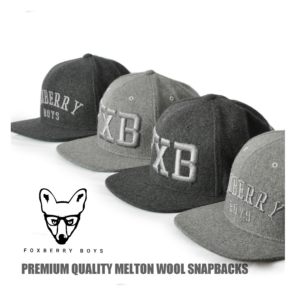 New Melton Wool Snapbacks available now