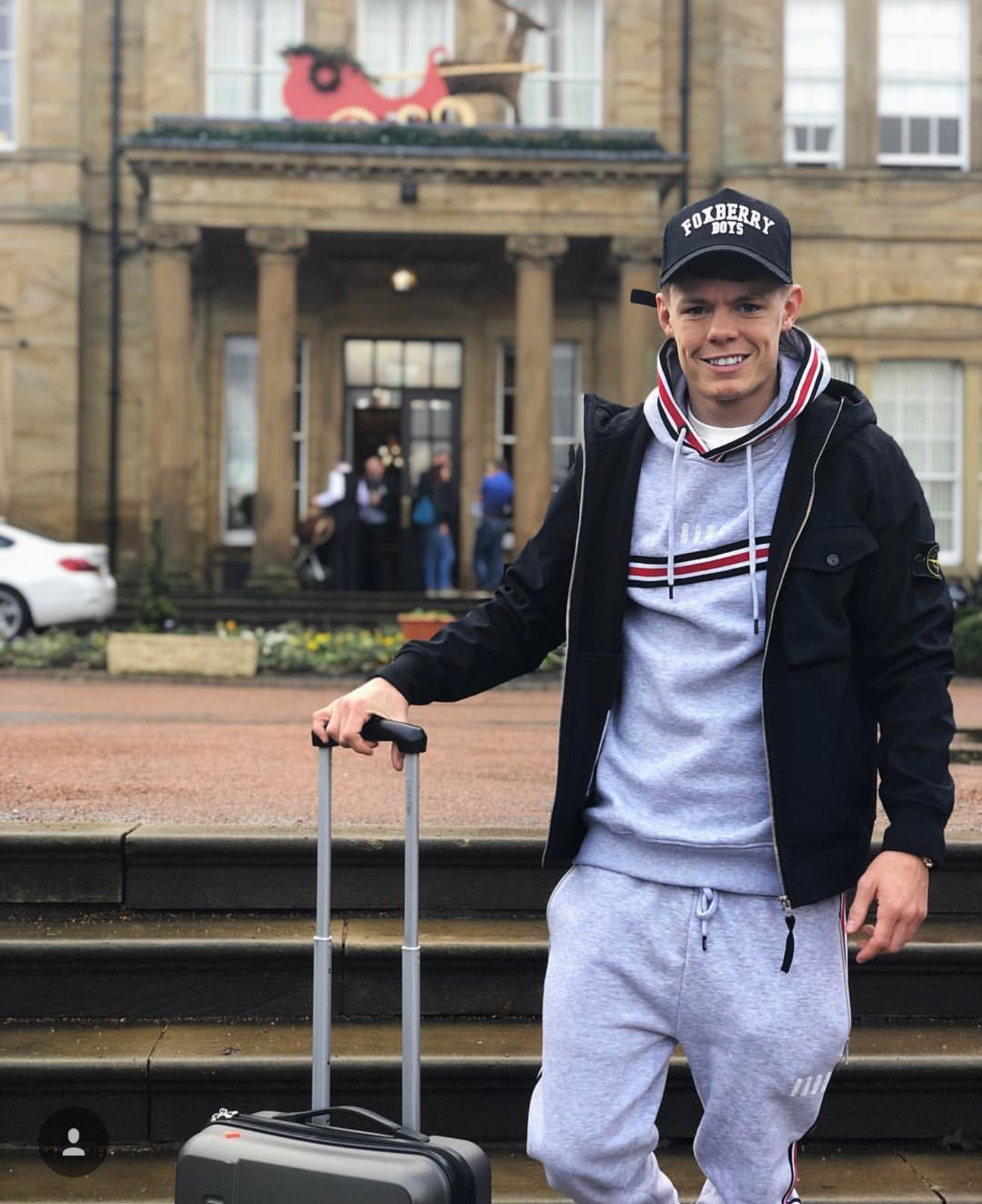 Charlie Edwards leaves Oulton Hall spa wearing our Sports Luxe Baseball cap looking relaxed ahead of his fight against current WBC Flyweight Champion Cristofer Rosales this Saturday 22nd Dec at the London O2 arena #ANDTHENEW #gopak