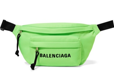 Balenciaga Green Florescent Bum Bag