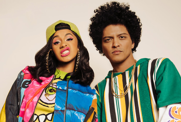 Cardi B & Bruno Mars wearing vintage 90s american brand Cross Colours
