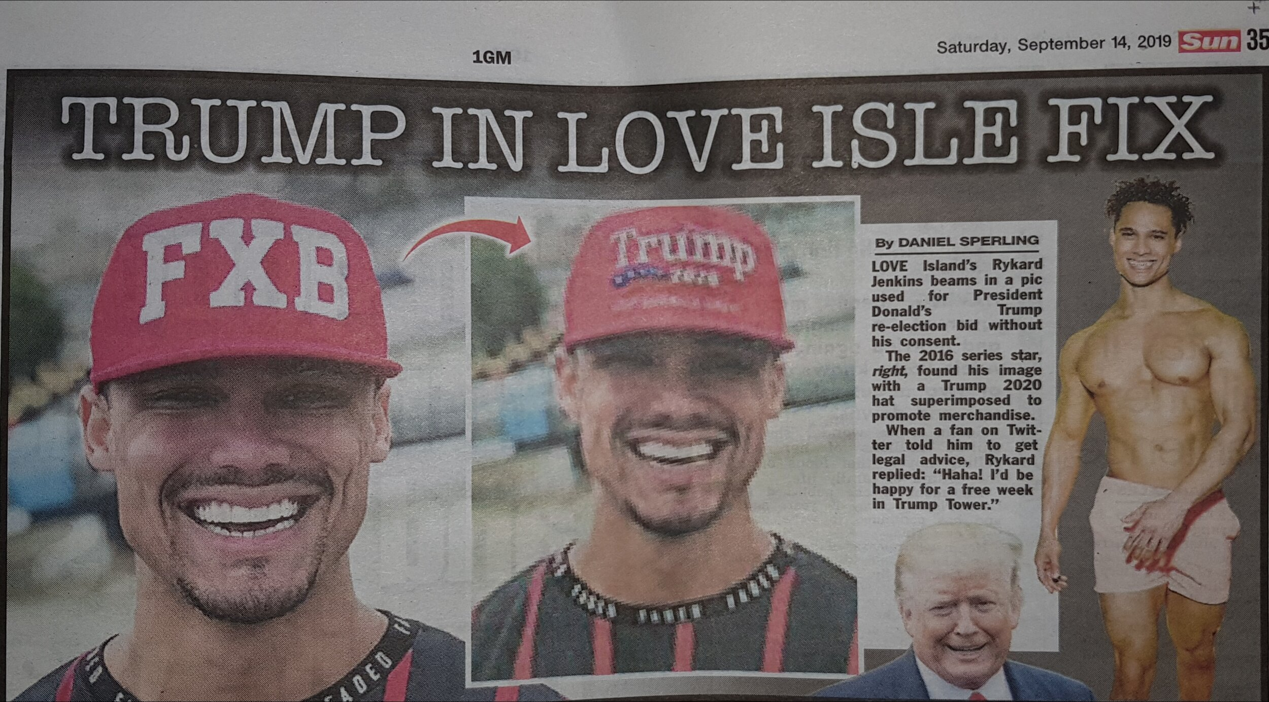 Foxberry Boys Red FXB Snapback featured in The Sun Newspaper