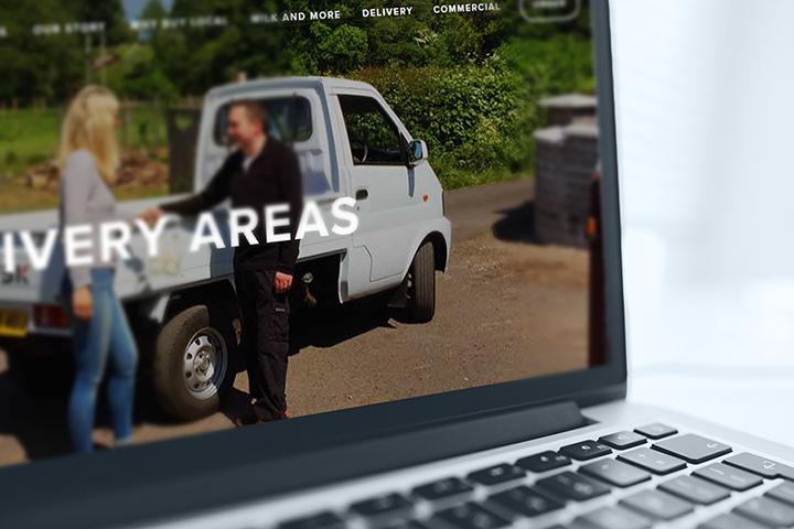 Brecon Milk website designed by by Spark Sites web design in Brecon, Wales