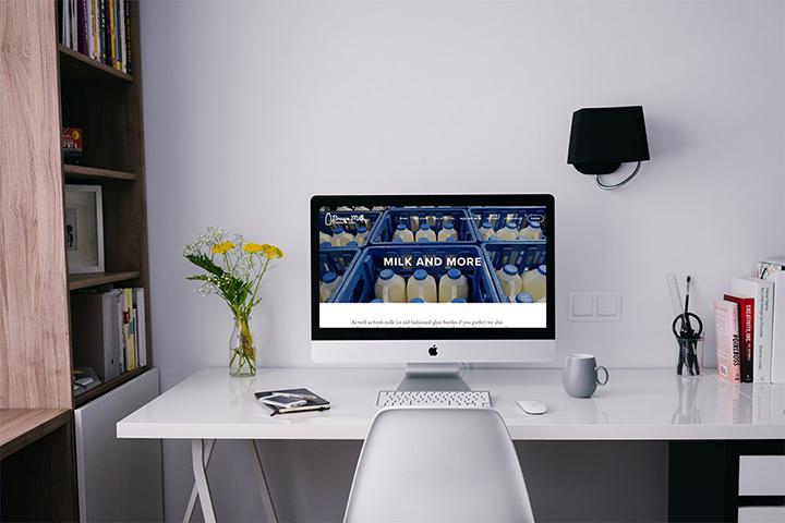 Brecon Milk's new website by Spark Sites website design in Brecon