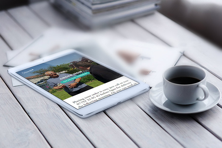 Brecon Milk responsive website designed by Spark Sites web design in Brecon, Powys, Wales