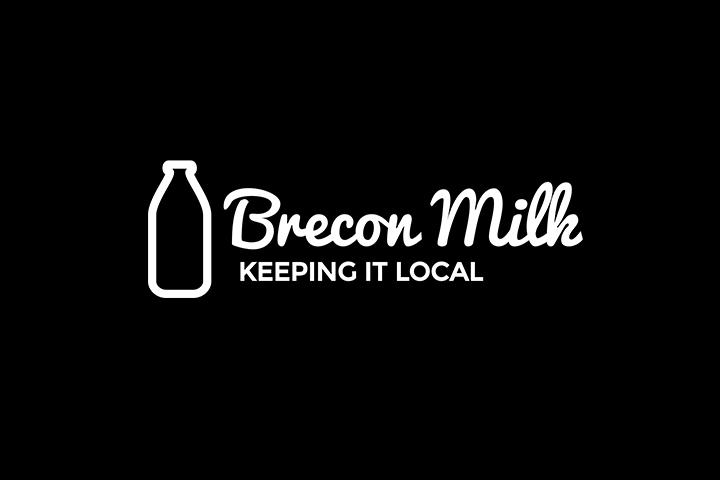 Brecon Milk logo designed by Spark Sites web design in Brecon