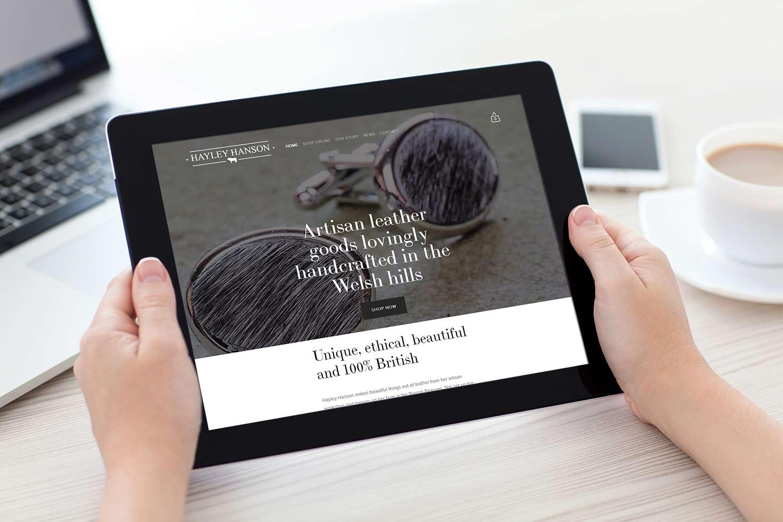 Hayley-hanson-website-on-iPad.jpg
