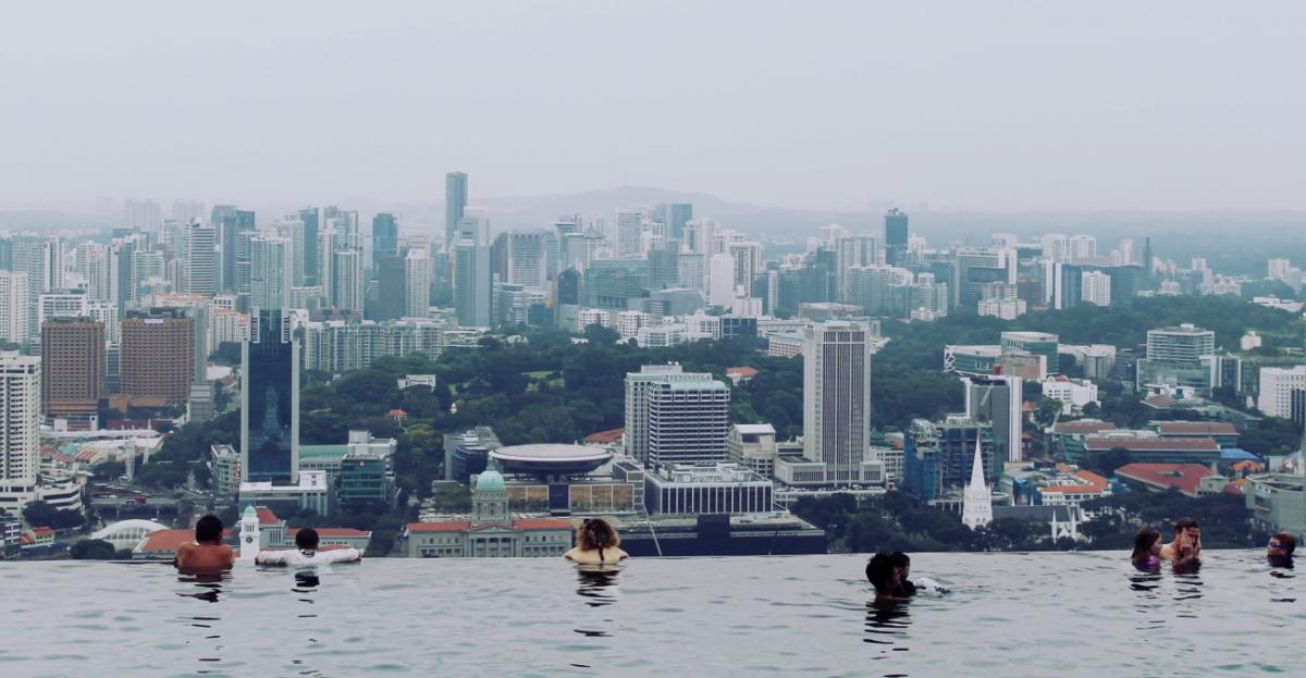 Infiniti pool, marina bay sands, singapore.