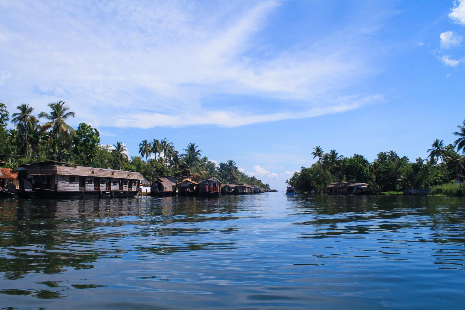 Kayaking in Alleppey, Kerala, India