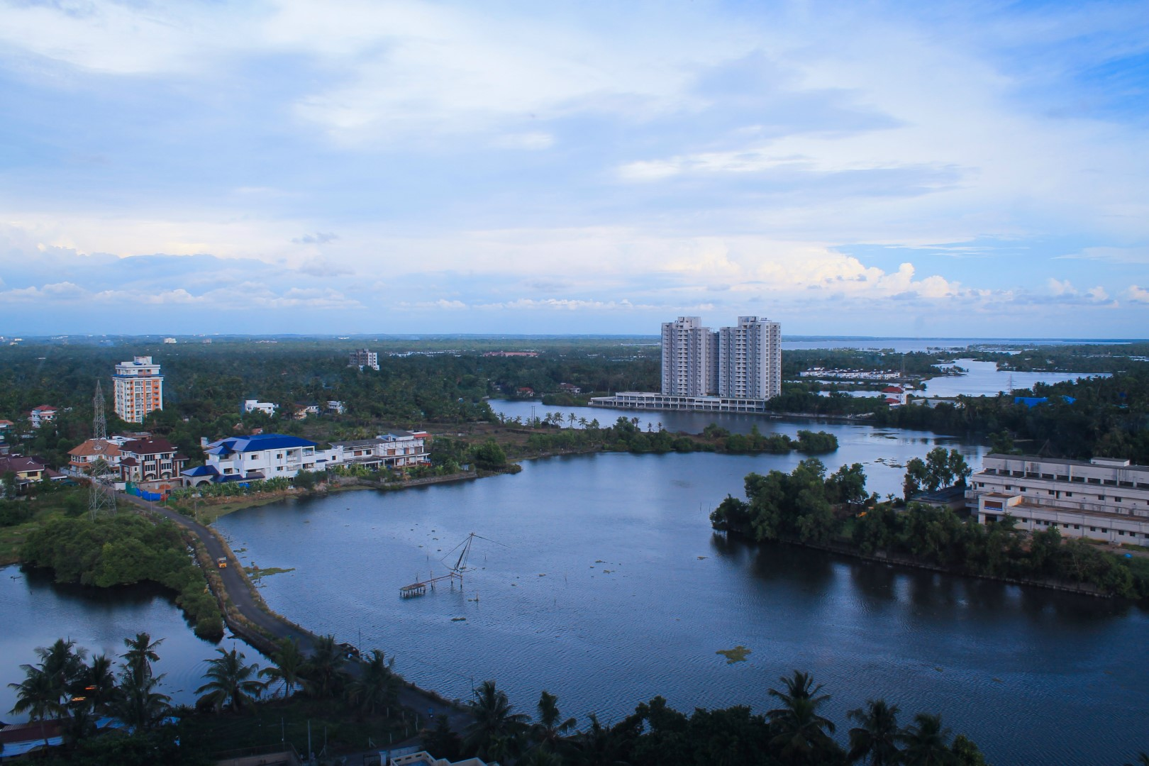 View from Crowne Plaza Kochi, India