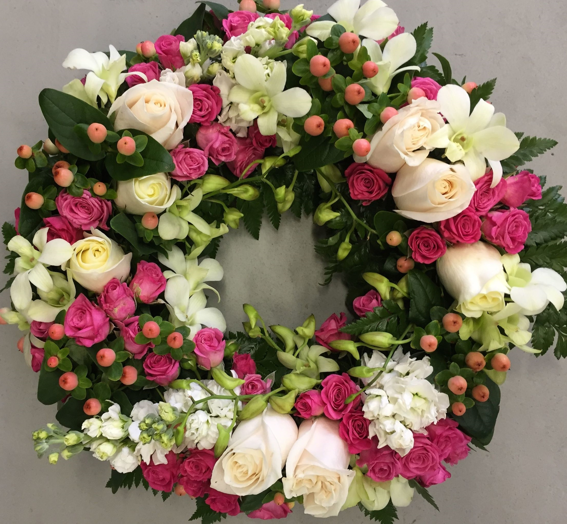 Pink and Pastels Wreath
