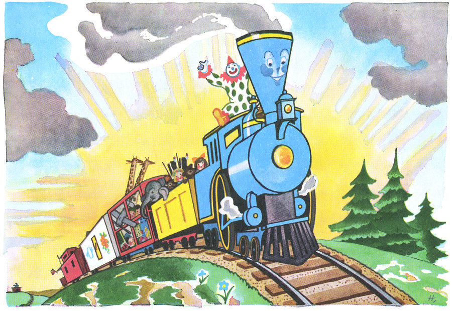 Illustration from  The Little Engine That Could  by Watty Piper