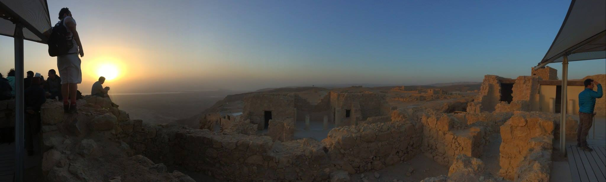 Attempting to capture the breathtaking beauty of Masada and its view of the Judean Desert.