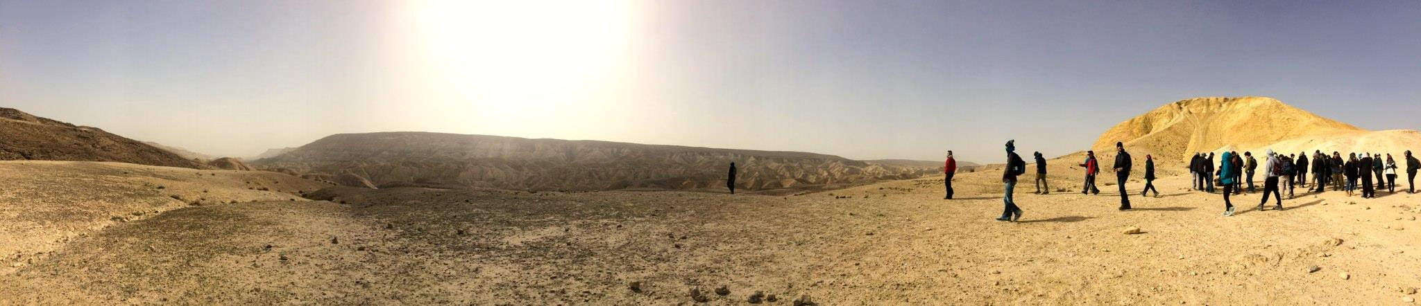 Hiking in the Negev Desert.