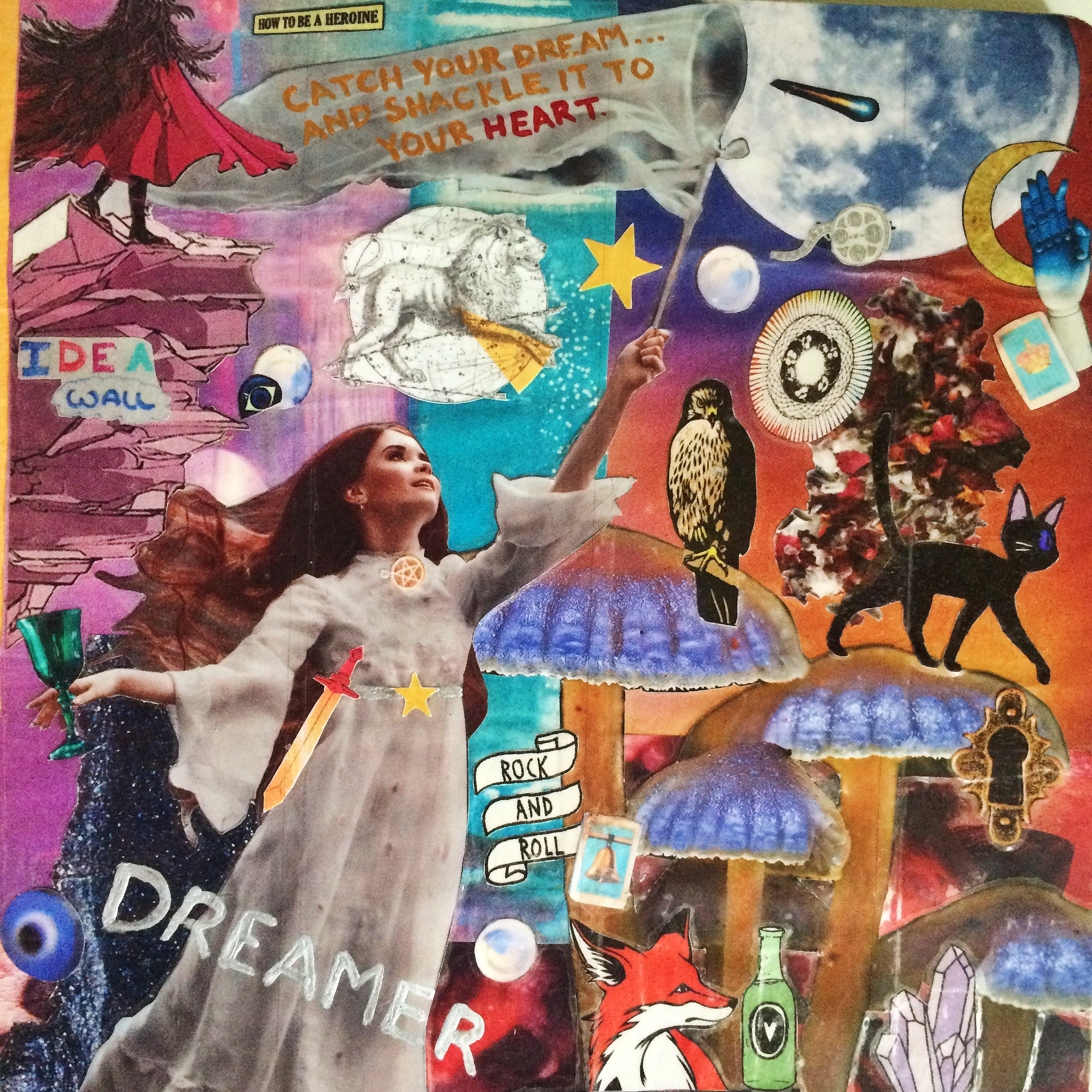 As evidenced by the cover of my most recent journal, dreaming big is rather an important theme in my life. Collage by me.