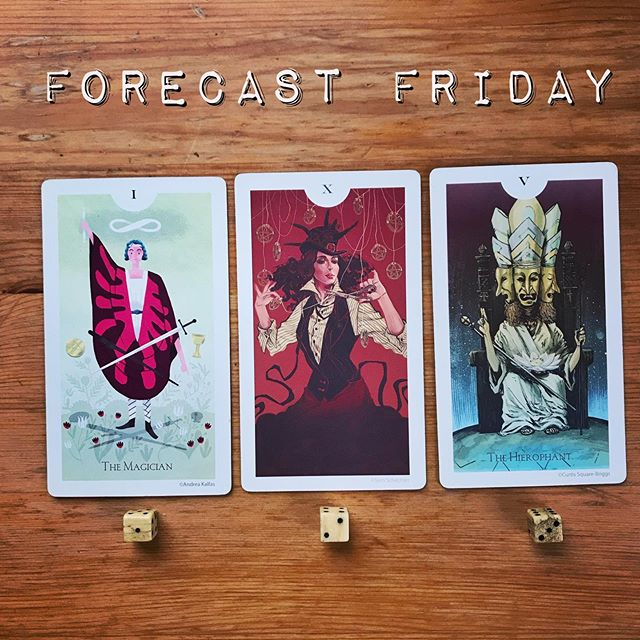 Apologies for the late post - here are your #forecastfriday Friday messages revealed!  1. The Magician - If you chose One, your #message this week is that you are far more powerful than you realize. Harness your passion, motivation, & imagination & trust in your ability to create change in the world. You are capable of far more than you realize.  2. Ten of Pentacles - Twos, your message this week is that your life is overflowing with abundance. True, there is always something we wish we could improve upon, but if you take a step back & survey your reality you'll see that you have so much to be thankful for. What's more, it's the direct result of your own hard work. Give yourself permission to enjoy yourself - you've earned it! 3. The Hierophant - This week, Threes, your message is a reminder to use tradition in your favor. There's no point in wasting energy reinventing something that's already been done well. Work within the well-tread patterns of your life to learn & grow & push yourself beyond your expectations. ✨ 🔮 Deck: The Light Grey Tarot 🔮 . . . #lightgreytarot #lightgreyartlab #friday #tgif #tarot #tarotcards #taroteverydamnday #tarotreadersofinstagram #witchythings #witchyvibes #witchlife #witchesofinstagram🔮🌙 #tarotcommunity #tarotdeck #tarotreadings #tarotspread #tarotlove  #modernwitch #witchstagram  #youaremagic #citywitch #spiritjunkie #witchesofig