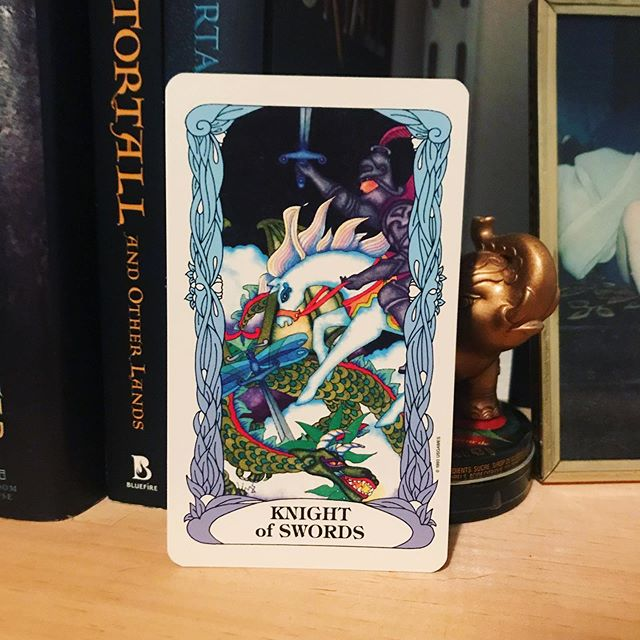 #dailytarot 8/20 ✨ Knight of Swords ✨ Today's #message is to be bold and fearless and unapologetic in standing up for your beliefs. We spend so much time second guessing ourselves, and the knight says ENOUGH. If you know what you hold true, you need to show up and fight for it. Everyone may not understand but at least you'll be following through on your convictions. ✨ . . . #tarotofamoongarden #tarot #tarotcards #taroteverydamnday #tarotreadersofinstagram #witchythings #witchyvibes #witchlife #witchesofinstagram🔮🌙 #tarotcommunity #tarotdeck #tarotreadings #tarotspread #tarotlove  #modernwitch #witchstagram  #youaremagic #citywitch #spiritjunkie #witchesofig