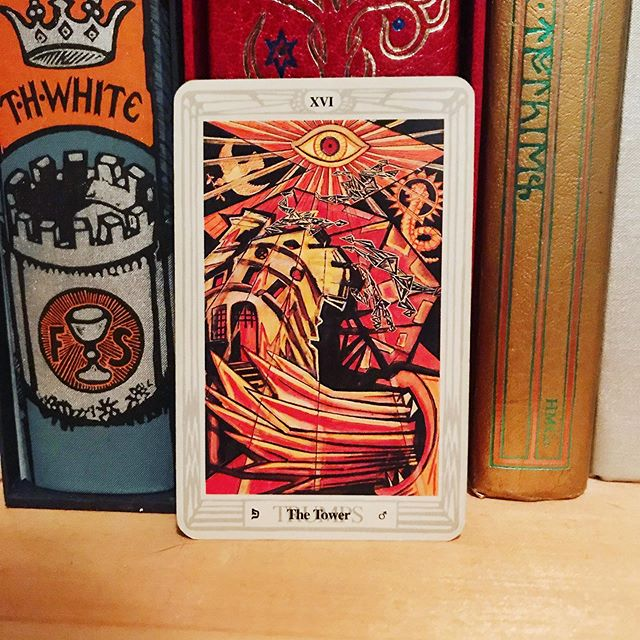 #dailytarot 8/21 ✨ The Tower ✨ Today's #message is that change is on the horizon, whether you want it or not, and it's up to you how you're going to respond to it. If you resist the impending transition or pretend it's not happening, things will fall apart of their own accord and take you down with them. However, if you do your part to deconstruct what hasn't been working and build something sustainable in its place, there's a good chance that you can get through this period of evolution more successfully and use the energies at play to your advantage. It may be uncomfortable when life is turned on its head, but ultimately it will result in positive change. Give yourself the space to ride it out. ✨ . . . #thothtarot #tarot #tarotcards #taroteverydamnday #tarotreadersofinstagram #witchythings #witchyvibes #witchlife #witchesofinstagram🔮🌙 #tarotcommunity #tarotdeck #tarotreadings #tarotspread #tarotlove  #modernwitch #witchstagram  #youaremagic #citywitch #spiritjunkie #witchesofig