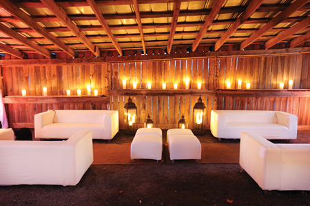 Barn Lounge - Weddings - Rental and Staging - Live Events - The AV Company