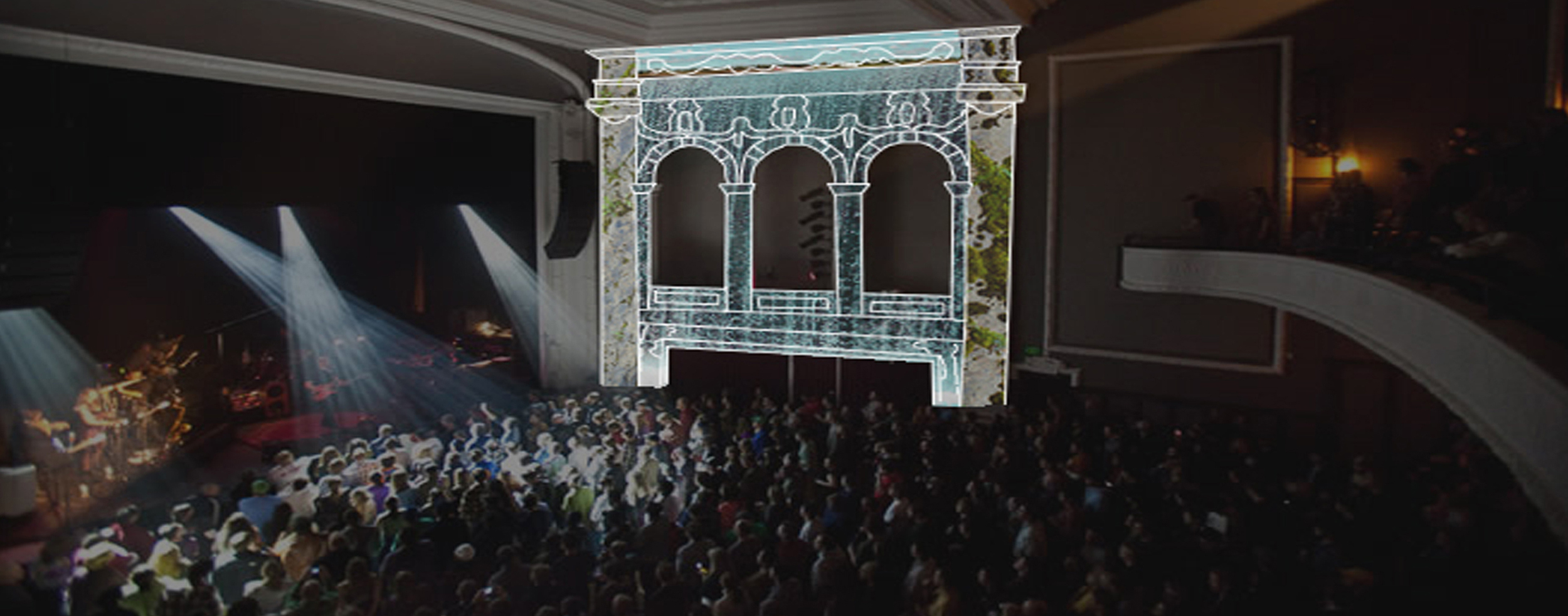 Portfolio . Virginia Film Festival . Rendering Projection Mapping