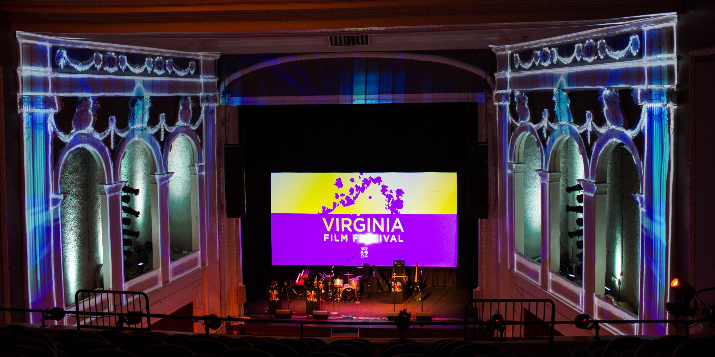 Portfolio . Virginia Film Festival . Projection Mapping