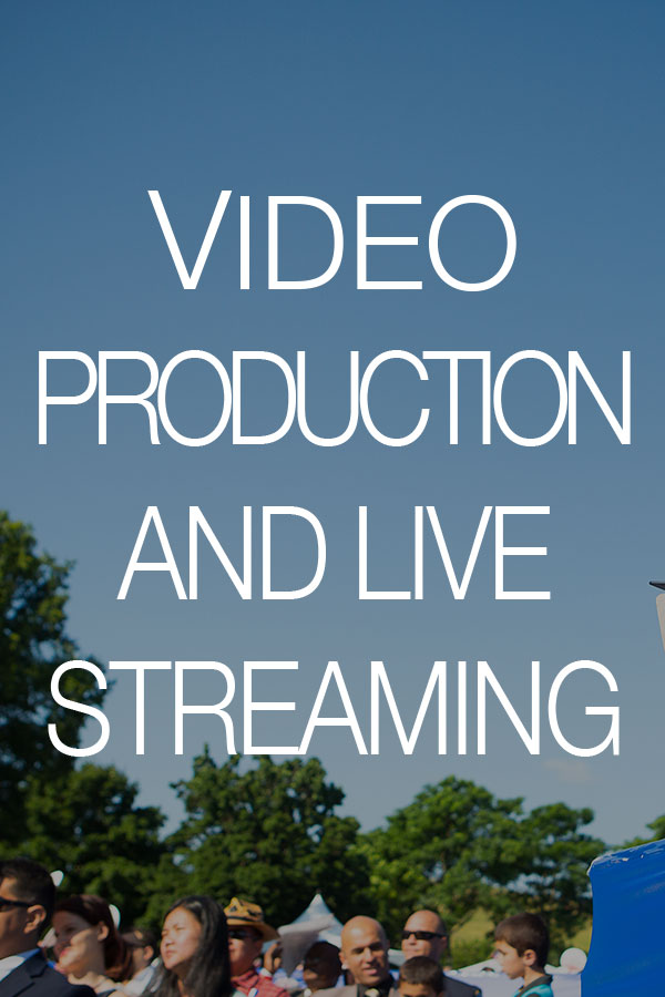 Video Production and Live Streaming . Rental and Staging