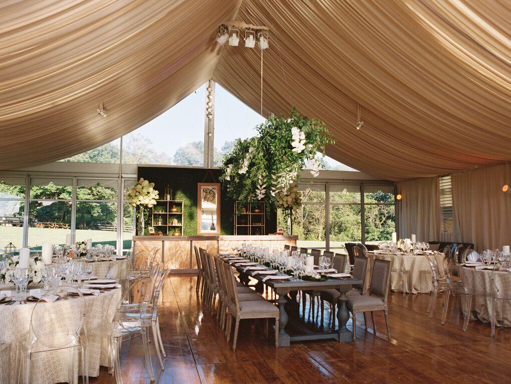 Custom Fabric Treatment for Tent Wedding