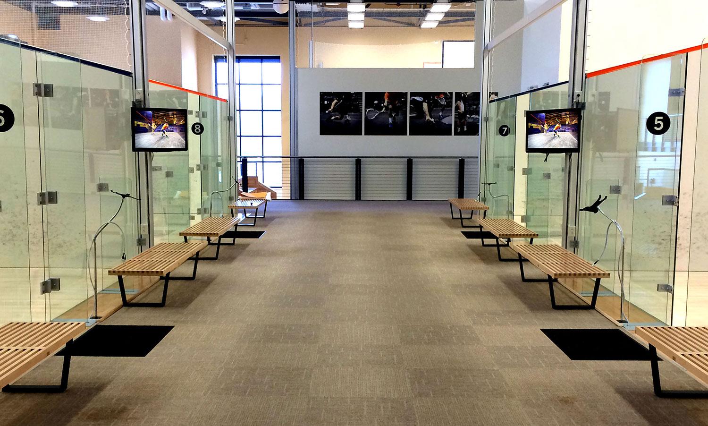 Audio Visual Systems Design & Installation . Screens . Squash Center . Charlottesville