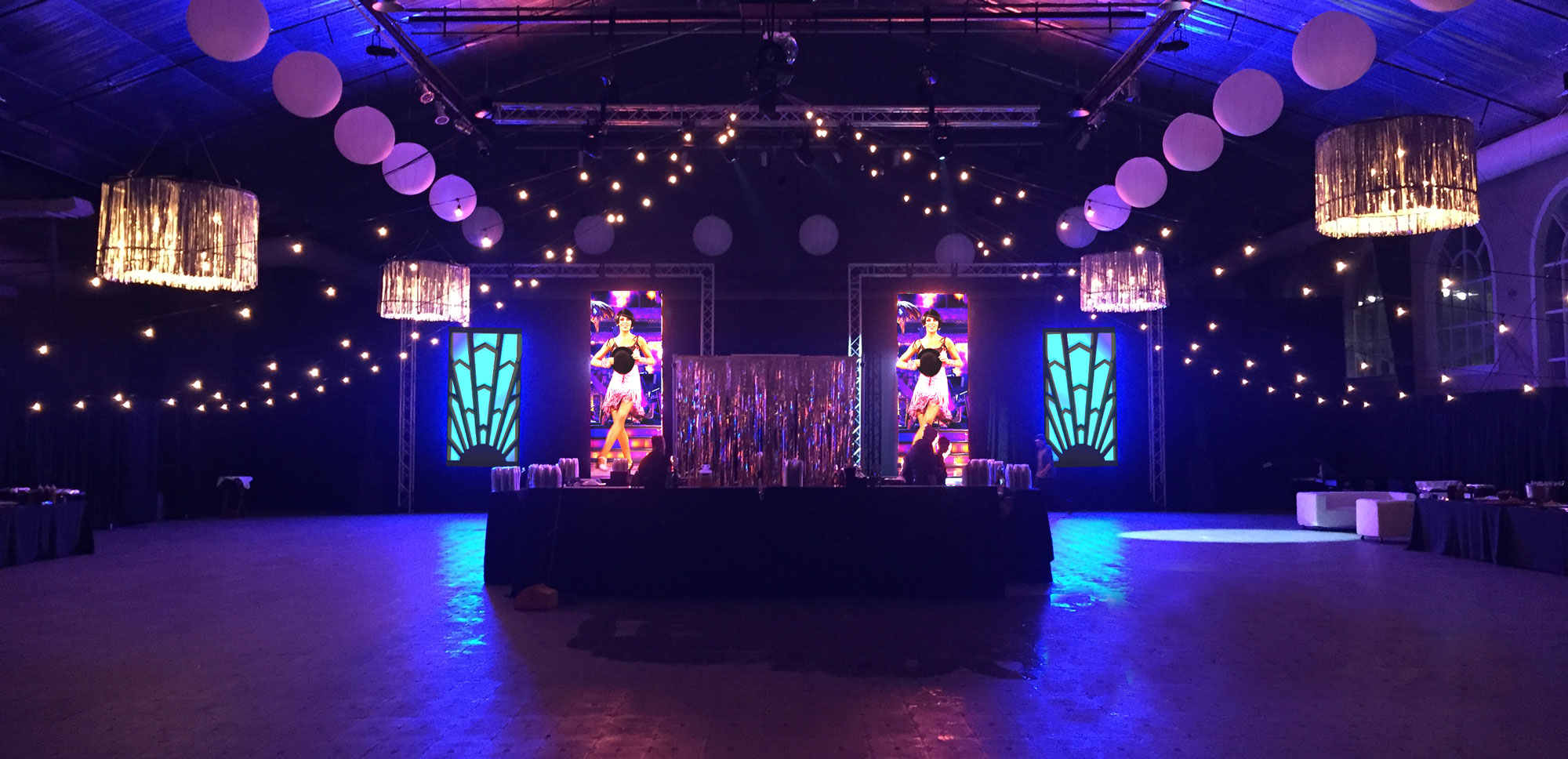 Main Street Arena Twenties Party with LED Wall Columns